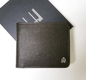ダンヒル 財布 ボードン 二つ折 (ダークグレー)