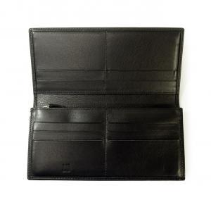 No.4 長財布 サイドカー 二つ折 (ブラック)
