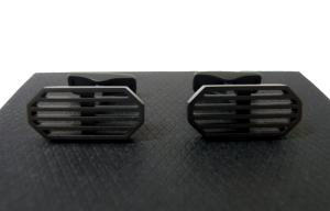 ダンヒル カフスボタン カフリンクス CAR GRILLE BLACK PVD