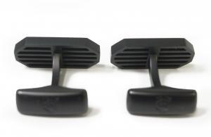 No.3 カフスボタン カフリンクス CAR GRILLE BLACK PVD