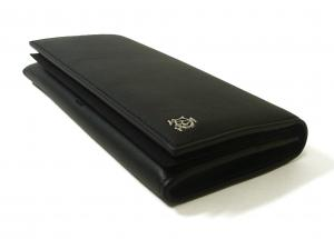 No.3 長財布 リーブス 二つ折 メンズ (ブラック)