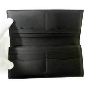 No.4 長財布 リーブス 二つ折 メンズ (ブラック)