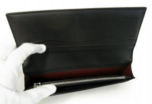 No.6 長財布 リーブス 二つ折 メンズ (ブラック)