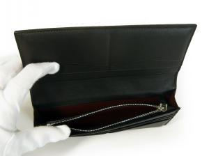 No.7 長財布 リーブス 二つ折 メンズ (ブラック)