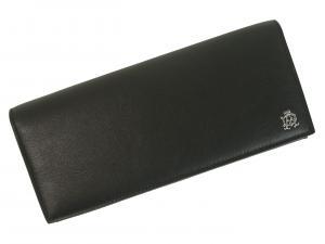 No.8 長財布 リーブス 二つ折 メンズ (ブラック)