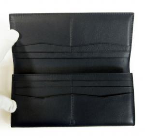 No.4 長財布 リーブス 二つ折 メンズ (ネイビー)