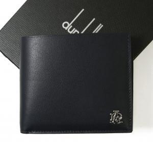 ダンヒル 財布 リーブス 二つ折 メンズ (ネイビー)