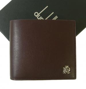 ダンヒル 財布 リーブス 二つ折 メンズ (ボルドー)