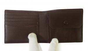 No.3 財布 リーブス 二つ折 メンズ (ボルドー)