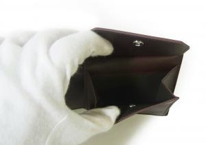 No.5 財布 リーブス 二つ折 メンズ (ボルドー)