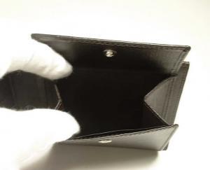No.6 財布 サイドカー 二つ折 (ダークブラウン)