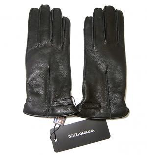 ドルチェ&ガッバーナ 手袋 ディアスキン メンズ (ブラック) L(9サイズ)