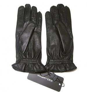 No.2 手袋 ディアスキン メンズ (ブラック) L(9サイズ)