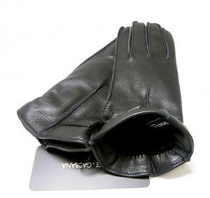 No.3 手袋 ディアスキン メンズ (ブラック) L(9サイズ)