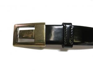No.3 ベルト レザー 細めタイプ(ブラック) 80cm