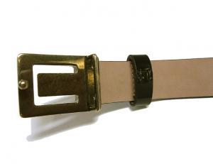 No.4 ベルト レザー 細めタイプ(ブラック) 80cm