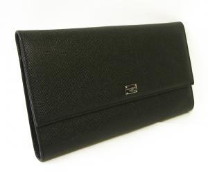 No.2 財布 型押しレザー トラベルドキュメントケース (ブラック) *大きめサイズ(横約25 cm)