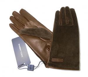 No.3  <訳あり・アウトレット>手袋 グローブ メンズ ゴート コーデュロイ テキスティング 8サイズ