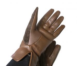 No.4  <訳あり・アウトレット>手袋 グローブ メンズ ゴート コーデュロイ テキスティング 8サイズ