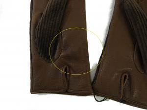 No.5  <訳あり・アウトレット>手袋 グローブ メンズ ゴート コーデュロイ テキスティング 8サイズ