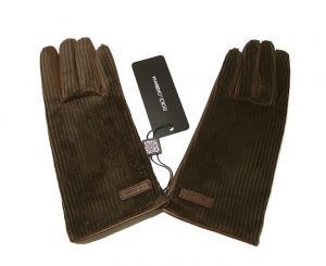 ドルチェ&ガッバーナ <訳あり・アウトレット>手袋 グローブ メンズ ゴート コーデュロイ テキスティング 9サイズ