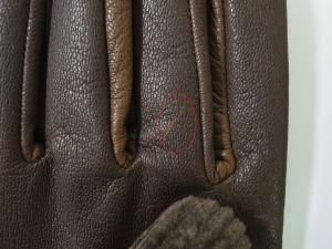 No.5 <訳あり・アウトレット>手袋 グローブ メンズ ゴート コーデュロイ テキスティング 9サイズ