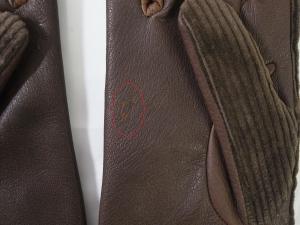 No.6 <訳あり・アウトレット>手袋 グローブ メンズ ゴート コーデュロイ テキスティング 9サイズ