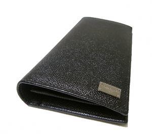 No.3 財布 ドーフィン型押しレザー 二つ折長財布