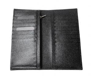 No.4 財布 ドーフィン型押しレザー 二つ折長財布