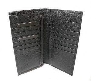 No.5 財布 ドーフィン型押しレザー 二つ折長財布