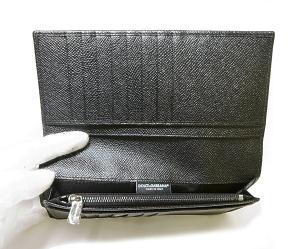 No.6 財布 ドーフィン型押しレザー 二つ折長財布