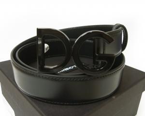 ドルチェ&ガッバーナ ベルト メンズ レザー DGロゴ バックル (ブラック) 95cm