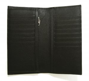 No.4 長財布 デザイナーズパッチ レザー 二つ折 (ブラック)