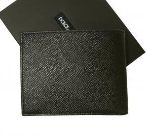 No.2 財布 メンズ 二つ折り ドーフィン 型押し ブラック