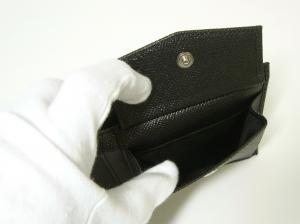 No.6 財布 メンズ 二つ折り ドーフィン 型押し ブラック