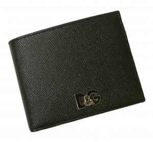 No.7 財布 メンズ 二つ折り ドーフィン 型押し ブラック