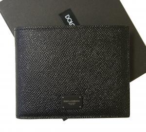 ドルチェ&ガッバーナ 財布 メンズ ドーフィン 型押しレザー 二つ折(ブラック) MainPhoto
