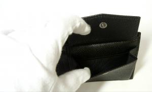 No.6 財布 メンズ ドーフィン 型押しレザー 二つ折(ブラック)