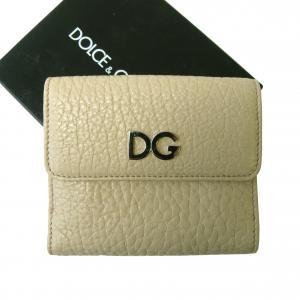 ドルチェ&ガッバーナ 財布 レディース二つ折ダブルホック財布(ベージュ)