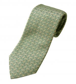 ダンヒル ネクタイ シルク グリーン カフスボタン柄