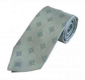 ダンヒル ネクタイ シルク シルバー 縦畝織 dロゴ