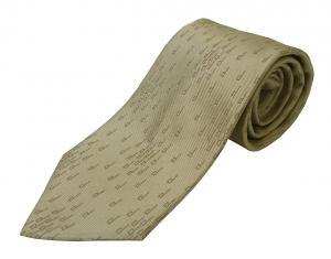 ダンヒル ネクタイ シルク ライトブラウン 畝織 dロゴ