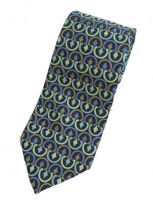 エミリオプッチ ネクタイ ブルー シルク100%