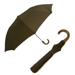 フォックスアンブレラズ  <訳あり・アウトレット>傘 折り畳み メンズ TEL1 アンブレラ ブラウン  Style10本骨