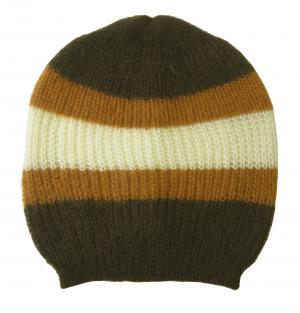 グッチ 帽子 ニットキャップ ラインデザイン(ブラウン)Lサイズ