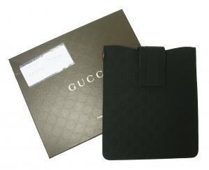 グッチ iPad ケース グッチシマラバー ブラック