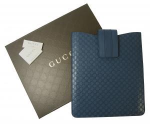 グッチ iPad ケース  GG柄 グッチシマ ブルー
