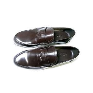 No.2 靴 メンズ ダブルGシンボル レザーシューズ 8サイズ(日本サイズ約27cm) (ココア)