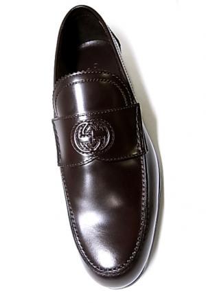 No.6 靴 メンズ ダブルGシンボル レザーシューズ 8サイズ(日本サイズ約27cm) (ココア)