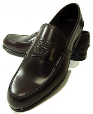 No.7 靴 メンズ ダブルGシンボル レザーシューズ 8サイズ(日本サイズ約27cm) (ココア)
